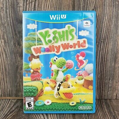 Yoshi's Woolly World (2015) Nintendo Wii U Wiiu Game - Complete - Free Shipping!