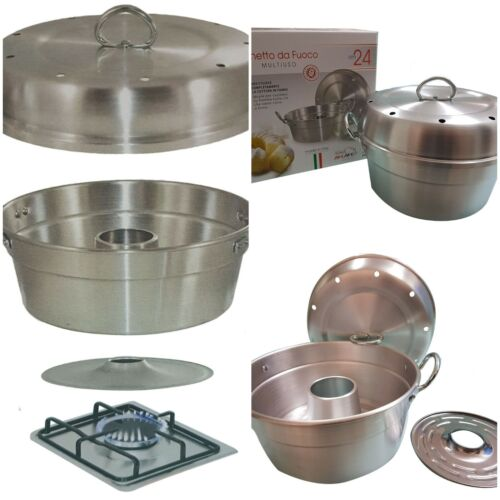 ALUMINUM WONDER POT Cook Bake Cake Bread Mould Tray Stove top Gas RECIPE BOOKLET