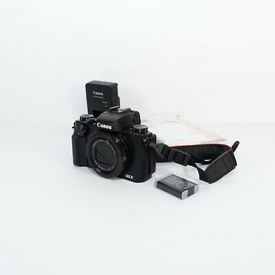 Canon PowerShot G5X digital camera w/ battery and charger