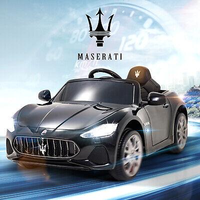 12V Maserati Cabrio Kid Ride On Car Toy Electric Battery W/ Remote Control Black