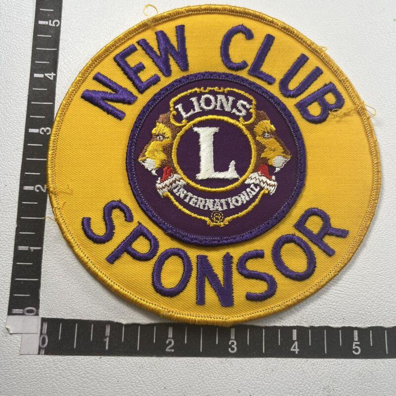 NEW CLUB SPONSOR Lions Club International Patch 09R6