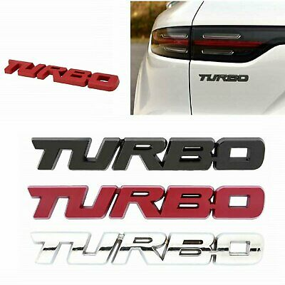 NEW  Metal TURBO  Fender or Trunk Emblem, Badge Chrome, Black, Red Free Shipping Car & Truck Parts
