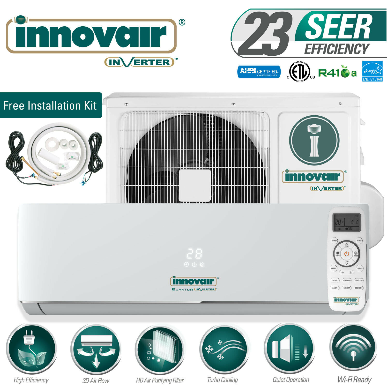 18000 BTU Mini Split Air Conditioner COOL ONLY Ductless 230V