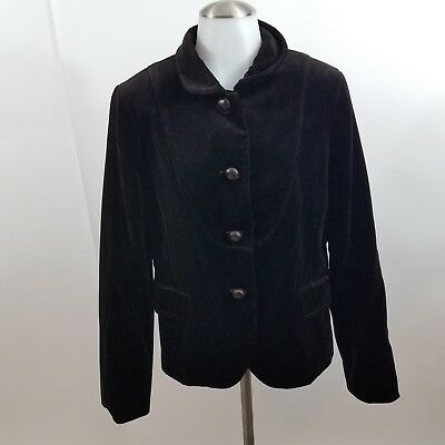 J. Crew Jacket womens 2 new Bella Brown Velvet Blazer dark button front solid, used for sale  Des Moines
