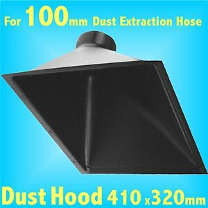 Deep Dust Hood for 100mm Dust Extraction Hose Charnwood SIP Record extractor
