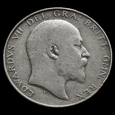 1910 Edward VII Silver Half Crown – Fine #2