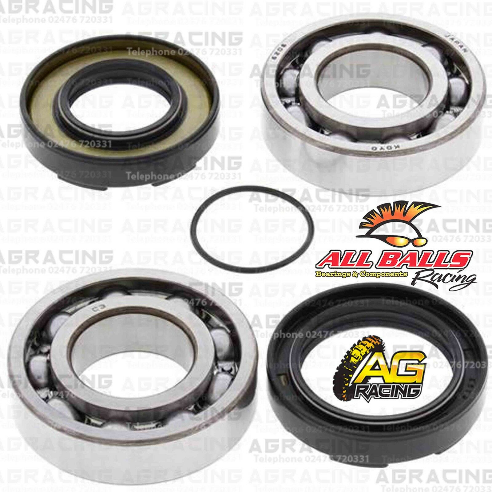 All Balls Crank Shaft Mains Bearings /& Seals Kit For Kawasaki KX 250 1988