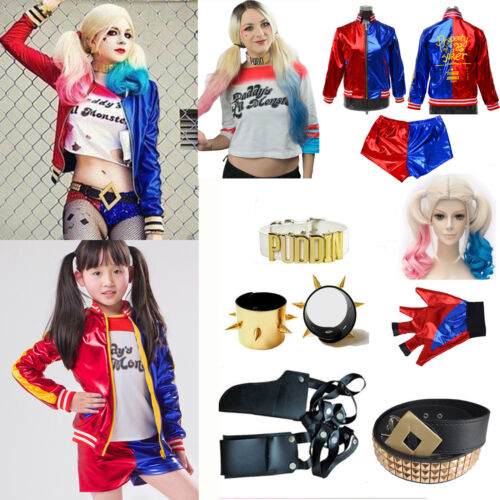 Suicide Squad Harley Quinn Tops Coat Jacket Accessory Cosplay Halloween Costume