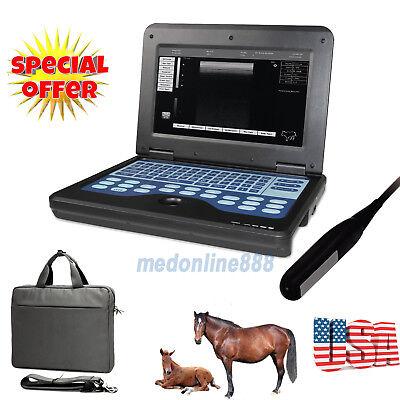 Vet Veterinary Portable B-ultrasound Diagnostic System Scanner 7.5m Rectal Probe