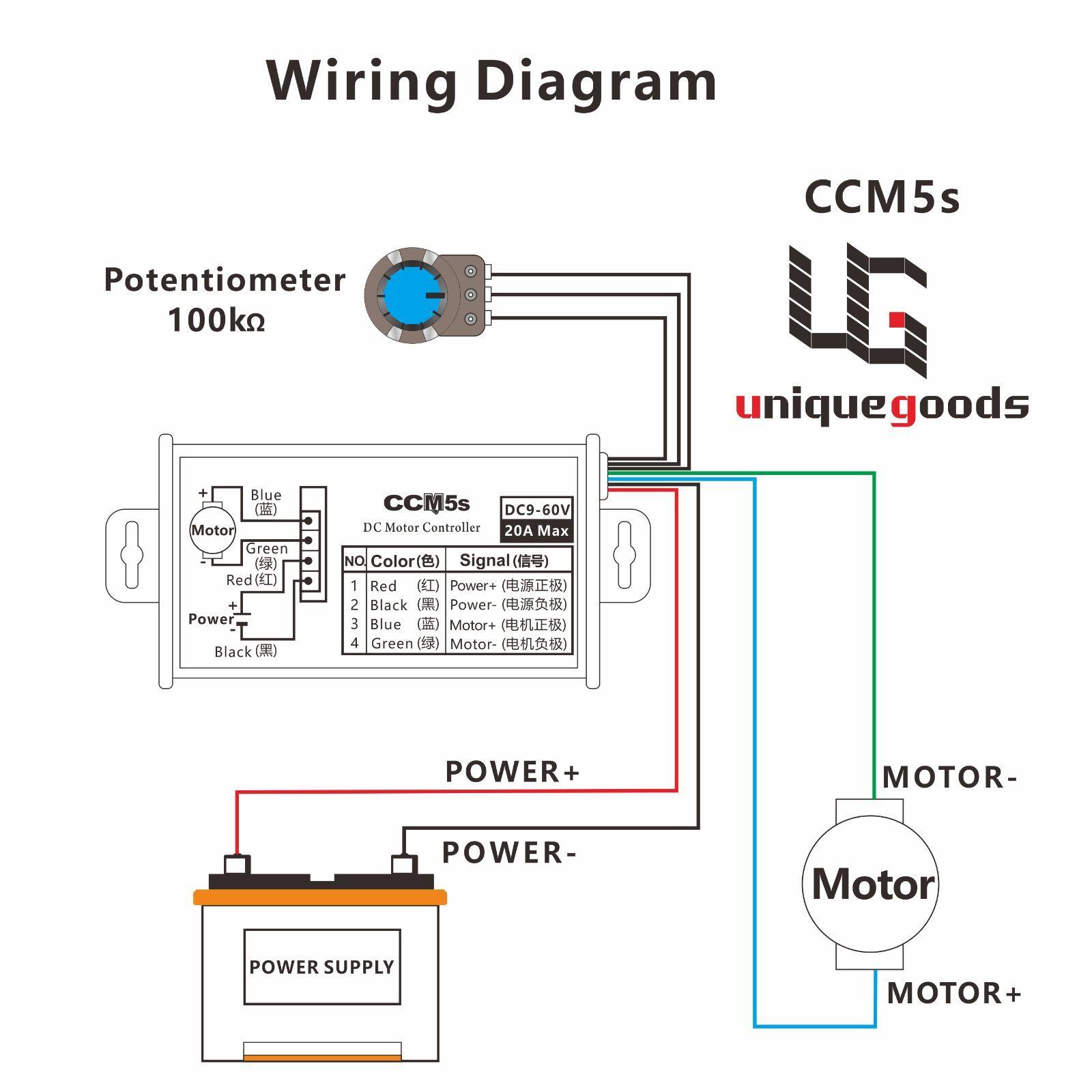 dc motor stepless variable speed switch controller 12v 24v 60v