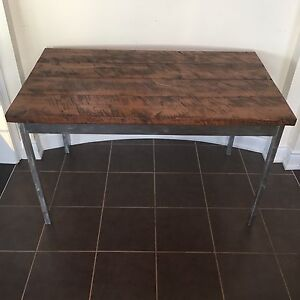 Wood/steel kitchen table