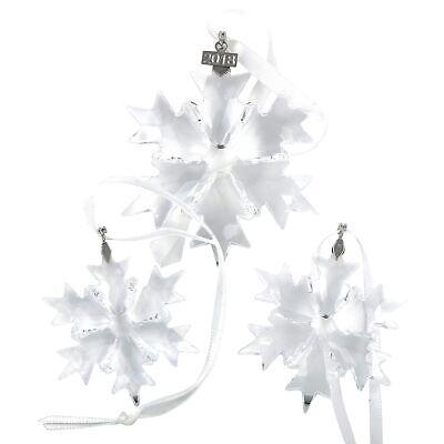Swarovski 2018 Snowflake Christmas Ornament Set