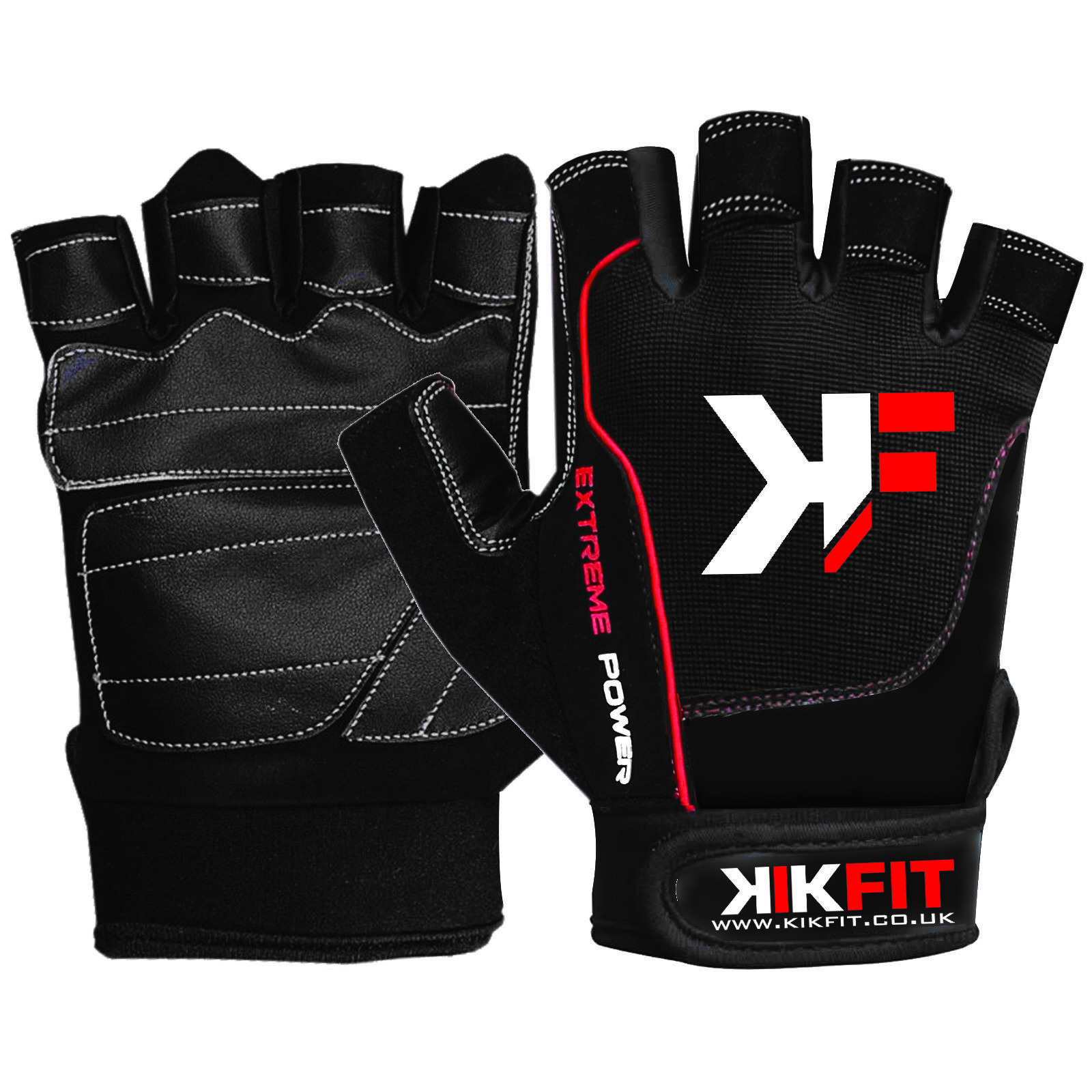 KIKFIT Leather Fingerless Wheelchair Gloves Bus Driving Gym