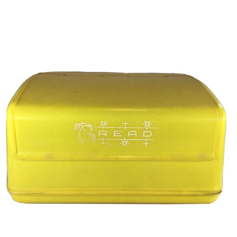 Vintage Lustro Ware Bread Box Bin Yellow
