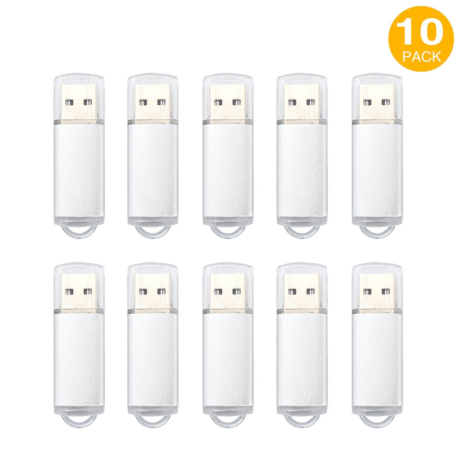 10Pack 1G 2G 4G 8G 16G USB Flash Drive Memory Stick Rectangle Thumb Pen Storage 125