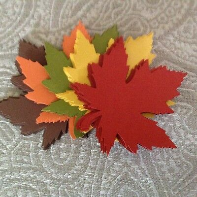 50 Large  4 inch Maple Leaf Cut Outs Fall Die Cut Leaves - Fall Cut Outs
