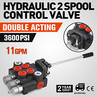 2 Spool Hydraulic Control Valve 11gpm Double Acting Small Tractors 2p40 3600 Psi