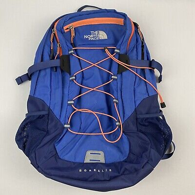 The North Face Borealis Blue Pink Backpack Camping Hiking Day Pack