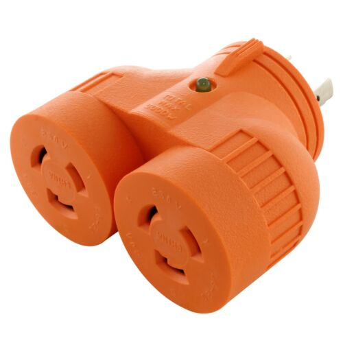 20 Amp 250 Volt NEMA L6-20 Outlet Splitter by AC WORKS®