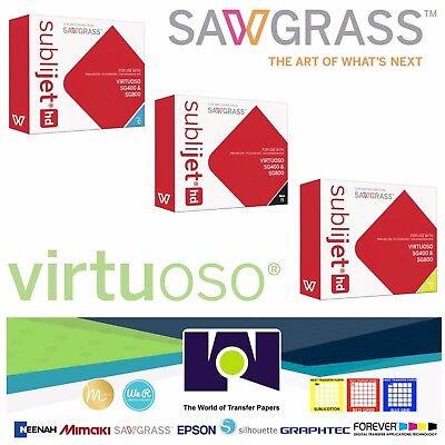 Sawgrass Ink Set C K Y Cartridges For Virtuoso Sublimation Printers Sg400sg800