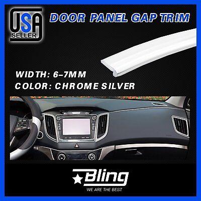 28Feet For Car Accessory Panel Edge Garnish Silver Molding Gap Trim Strip Line