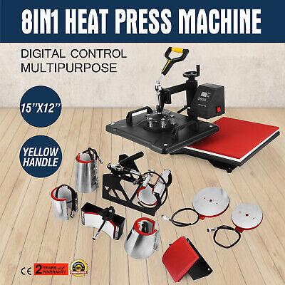 8 In 1 T-shirt Mugplate Sublimation Heat Press Transfer Machine Diy Printer