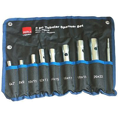 Tubular Spanner Set. Deep Tubular Box Spanners 6 to 22mm. 16 Metric sizes