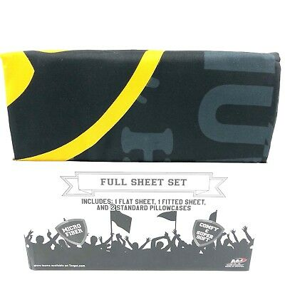 Iowa Hawkeyes NCAA Full Sheet Set Flat Sheet Fitted Sheet 2 Standard Pillowcases