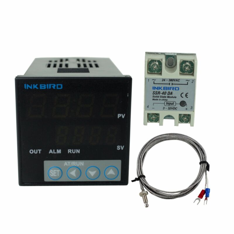 Inkbird Digital PID Temperature Controller 106VH + K SENSOR + 40A SSR 100-240V