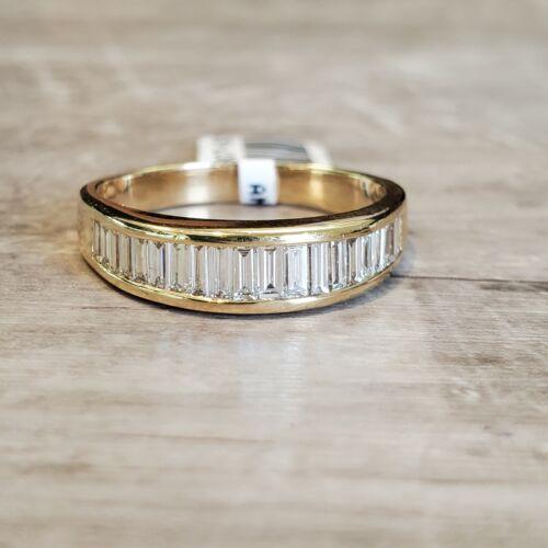 14k Yellow Gold 1ctw 20 Baguette Diamond Ring size 9.5