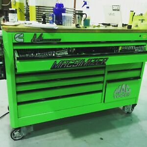 Mac Macsimizer custom MB1354-NG Neon Green Tool Box
