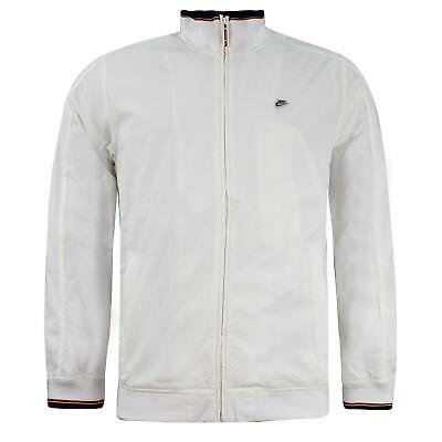 Nike Mens Jacket Windbreaker Zip Up Bomber White 194176 100