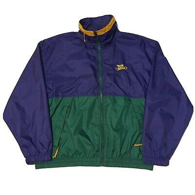 VTG 90s Windbreaker Men's Large Zip Up Dekalb Jacket Nylon Stiched 80s
