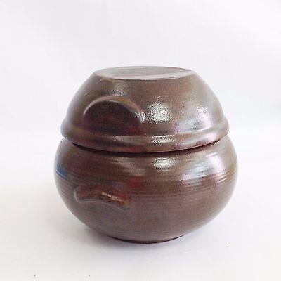 "500 ml Pottery Porcelain Jar Pot for Food fermentation Onggi Korean Ceramic 4.8"""