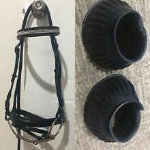 Bling full size bridle and full bell boots Mackay 4740 Mackay City Preview