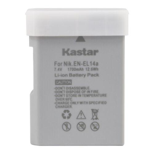 Kastar Rechargeable Li-Ion Battery for Nikon ENEL14 EN-EL14a (27126) DSLR Camera