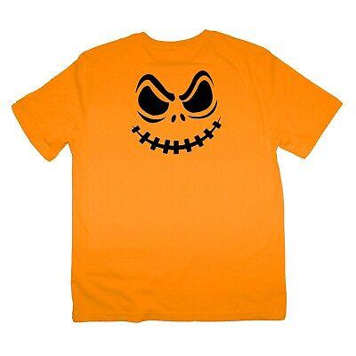 Halloween angry scary pumpkin face Hallow Saints eve Shirt Kids and S-XXXL