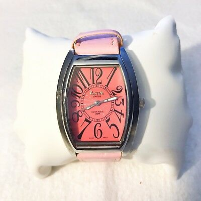 Ladies Activa Swiss Quartz Watch 30m (WR)  495494 PINK Lot W009