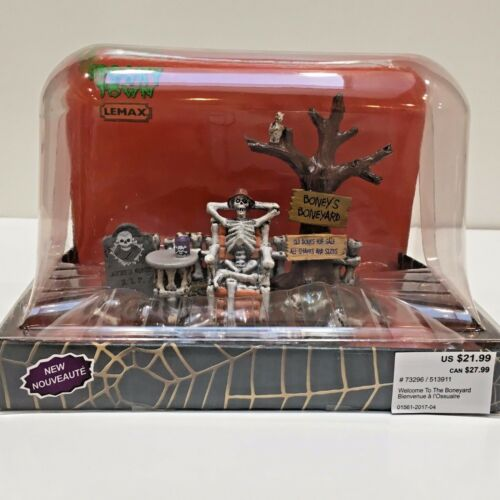 Lemax Spooky Town Halloween WELCOME TO THE BONEYARD Table Accent 2017 #73296