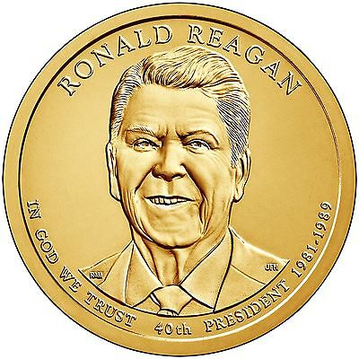 2016 Ronald Reagan P&D  Ready to Ship Presidental Dollars