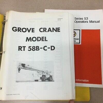 Grove Rt58b Rt58c Rt58d Crane Service Shop Repair Manual Rough Terrain Hydraulic