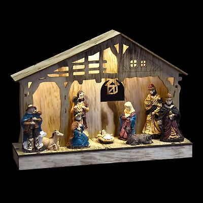 Nativity Scene Christmas Light Up Room Decoration Battery Operated LED Ornament