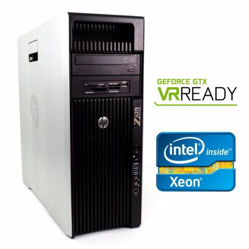 Hp Z620 Vr Ready Gaming Computer 2.9ghz 16 Cores Gtx1060 48gb Ram 512gb Ssd