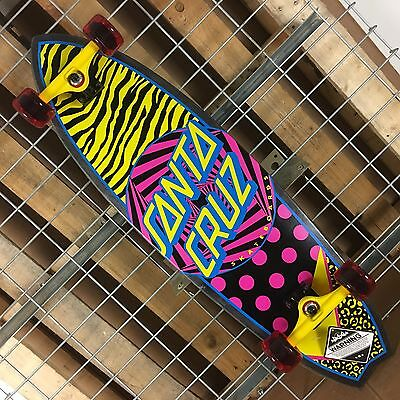 New Santa Cruz Saved By The Shark Cruzer Complete Skateboard - 36in x 10in