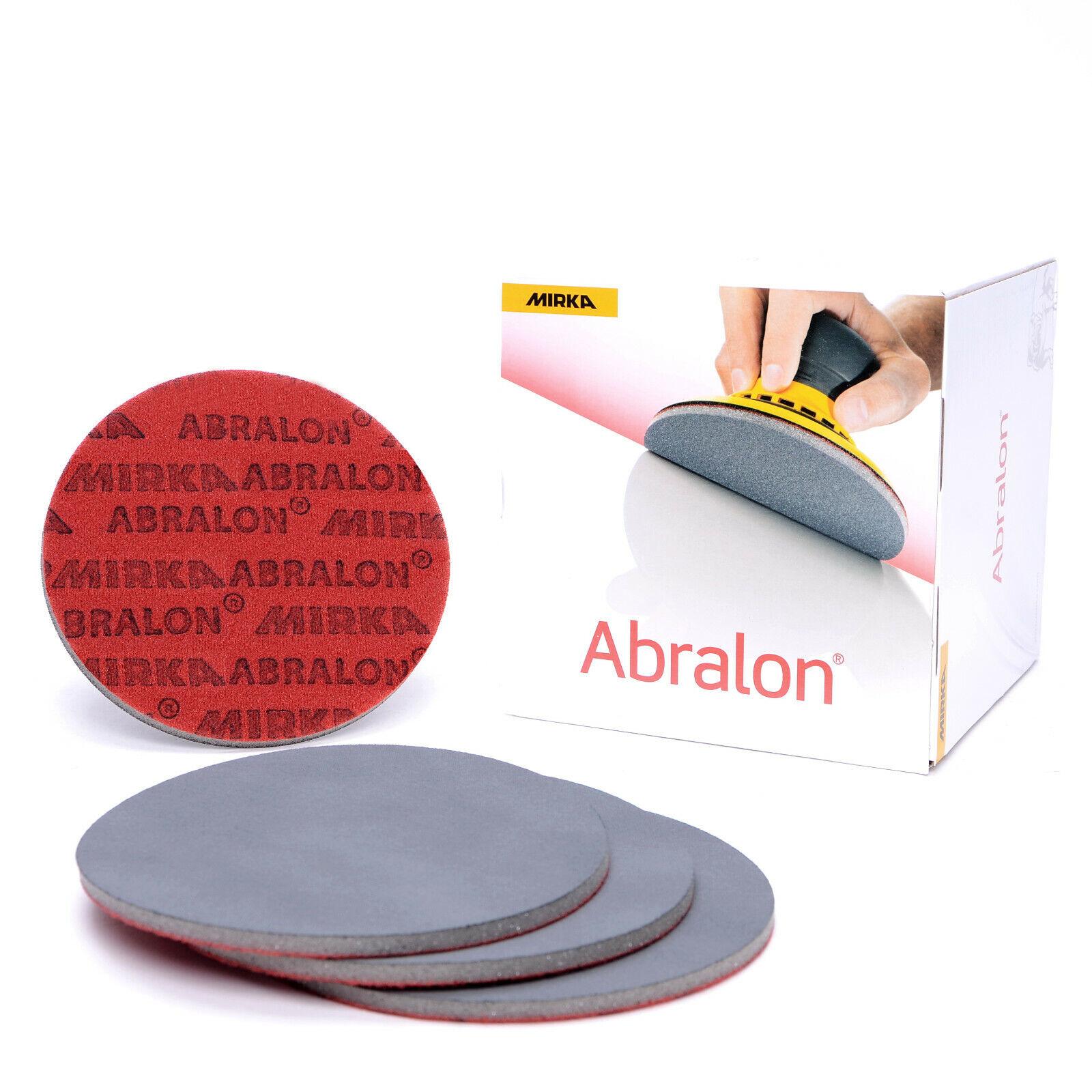Abralon Schleifscheiben Mirka Schleifpads P180 - P4000 Klett 150mm Excenter