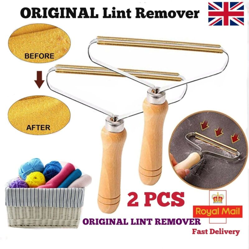 Original Portable LINT REMOVER |Pet Fur Clothes Fuzz Trimmer Reusable Roller| UK