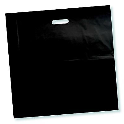 100 Pack 16 X 16 With 2 Mil Thick Black Merchandise Plastic Glossy Retail B...