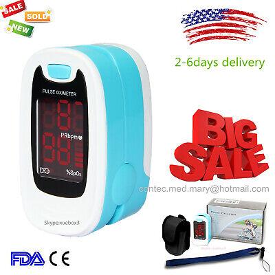 Pulse Oximeter Finger Tip Blood Oxygen Saturation Spo2 Pr Monitor Case Lanyard
