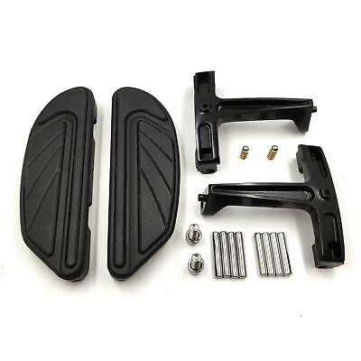 Airflow Black Passenger Floorboard Mount Bracket Kit For Harley Touring FLHR 93-