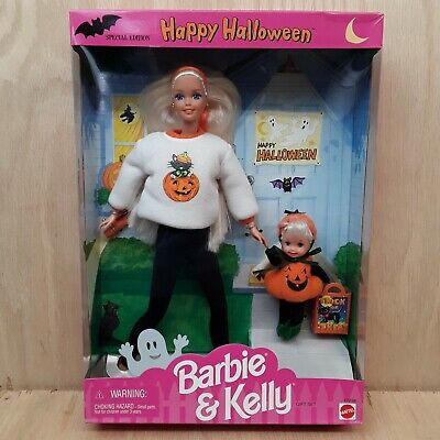 Barbie Halloween Outfit (1996 Happy Halloween Gift Set Barbie and Kelly 17238 Outfit)